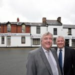 Phil-Bates-and-Alan-Mellor-outside-the-new-look-Phillip-Bates-&-Co-offices